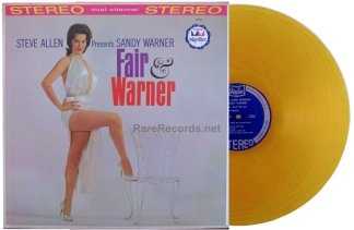 sandy warner - fair and warner yellow vinyl lp