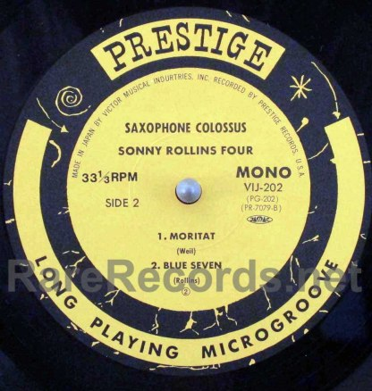 Sonny Rollins – Saxophone Colossus Japan LP