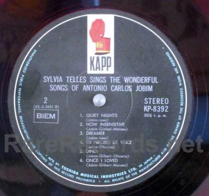 Sylvia Telles Sings The Wonderful Songs Of Antonio Carlos Jobim japan red vinyl LP