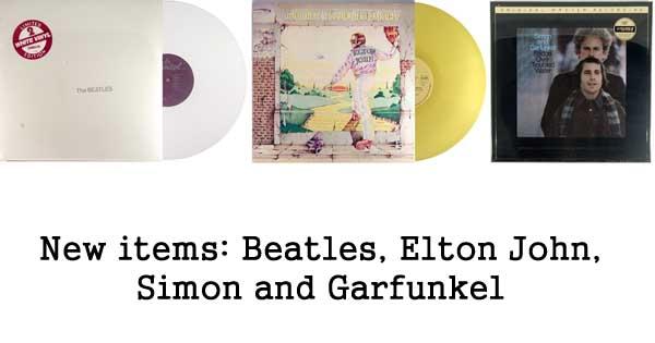 new rare records - beatles, elton john, simon and garfunkel