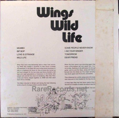 paul mccartney & wings - wild life red vinyl japan lp