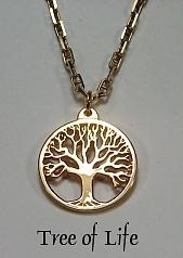 14KY Pierced Tree of Life Pendant