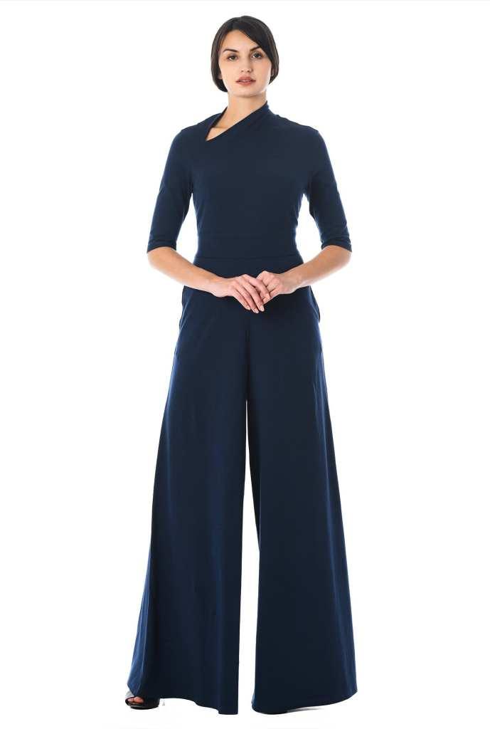 eShakti Asymmetric Neck Cotton Jumpsuit