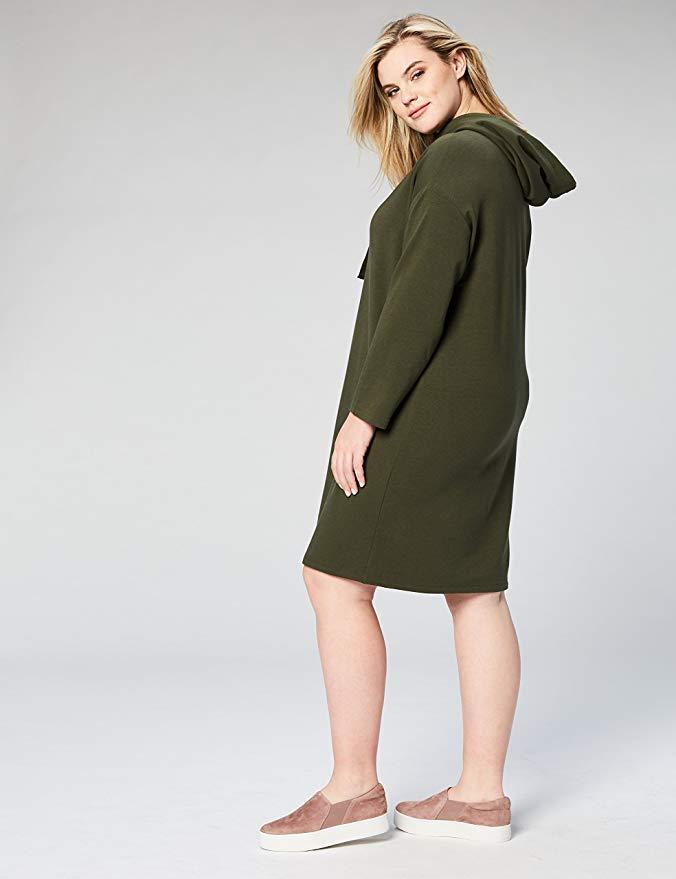 Daily Ritual Plus Size Hoodie Sweatshirt Dress