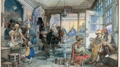 Кафана у Истанбулу - слика Амедеа Прециосија из средине 19. века