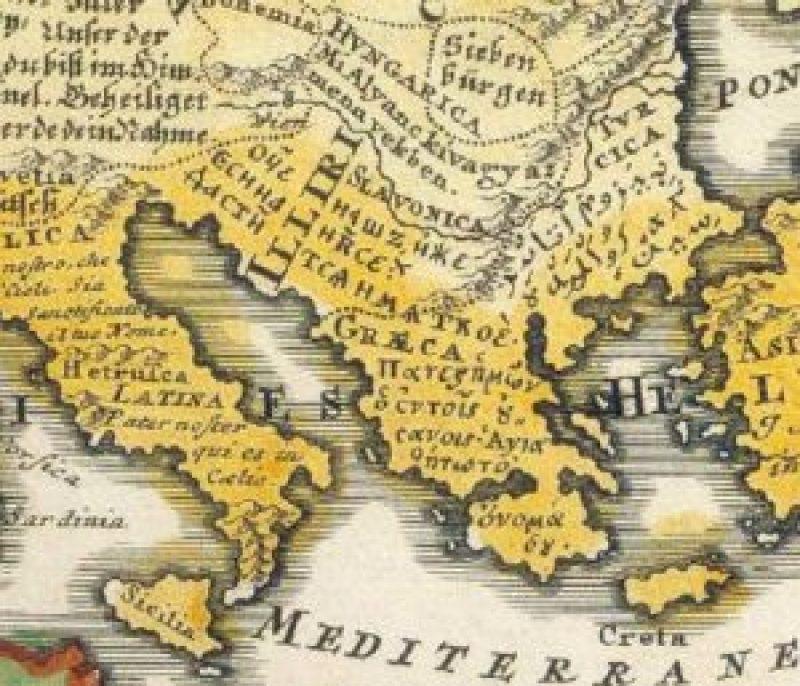 ФАНТАСТИЧНО ОТКРИЋЕ: Карта света из 1741. са речима ''Оче наш'' на свим светским језицима, Срби представљени као Илири! (ФОТО) 1