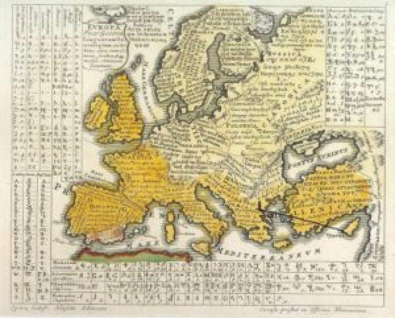 ФАНТАСТИЧНО ОТКРИЋЕ: Карта света из 1741. са речима ''Оче наш'' на свим светским језицима, Срби представљени као Илири! (ФОТО) 6