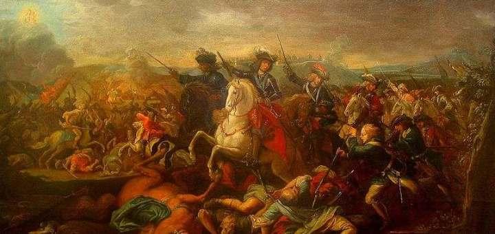Еуген Савојски у бици за Београд 1717. (Johann Gottfried Auerbach)