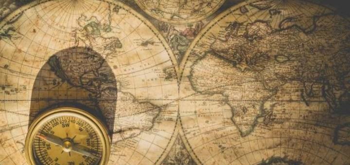 Компас, Карта, Мапа света