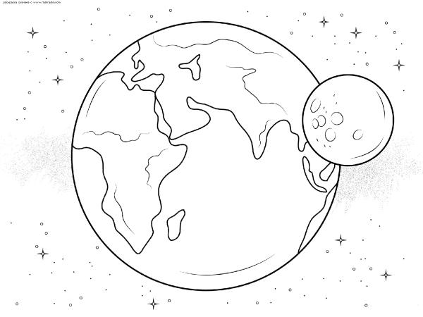 Раскраска Планета Земля | Раскраски космос. Космические ...