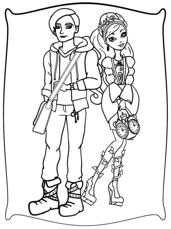 Онлайн раскраски с Эвер Афтер Хай для мальчиков и девочек