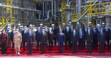 الرئيس السيسى يفتتح مجمع مسطرد لتكرير البترول