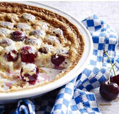 Cherry Almond Clafoutis Recipe