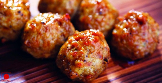 nutty chicken balls