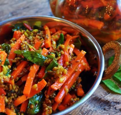 Carrot Pickle Recipe by rasoi menu