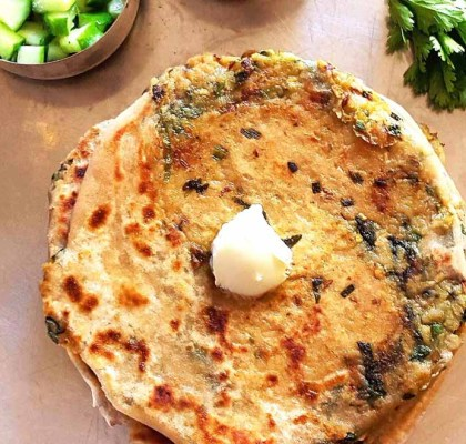 Coriander Paratha Recipe by Rasoi Menu