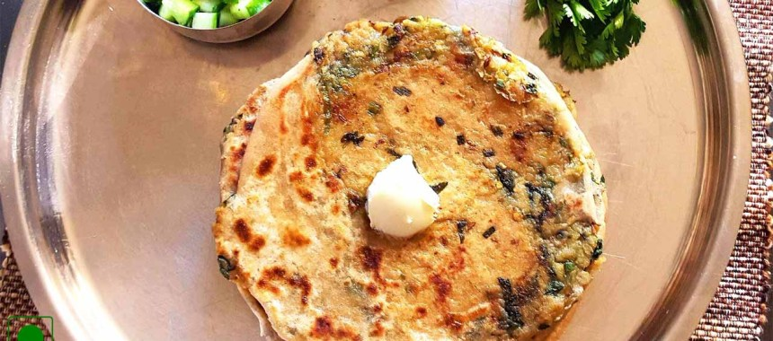 Coriander Paratha Recipe