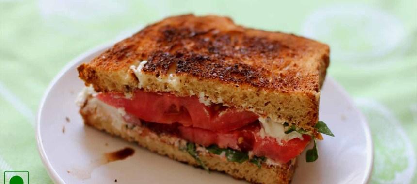 Tomato & Basil Sandwich Recipe
