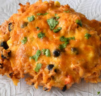 Fiesta Chicken and Rice Bake Recipe