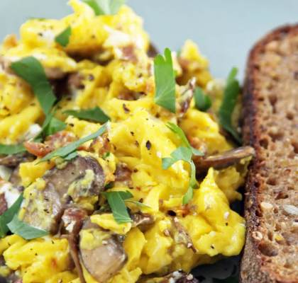 Mushroom Scrambled Eggs Recipe