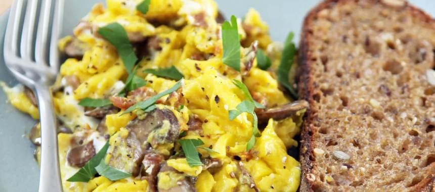 Mushroom Scrambled Eggs Recipe
