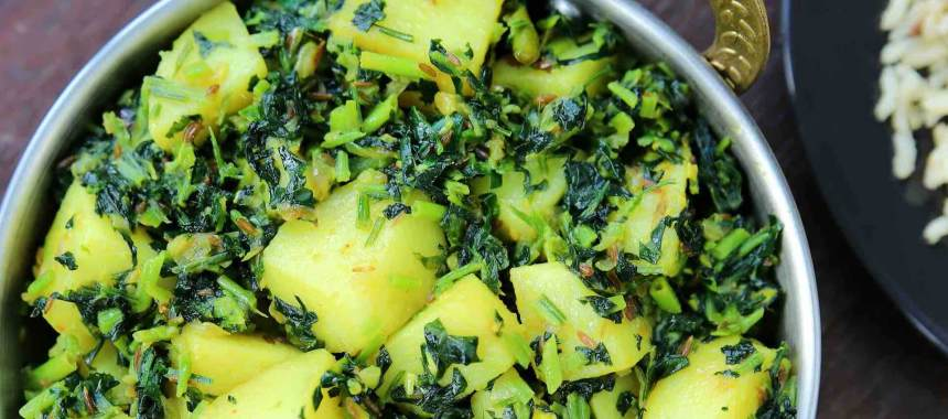 Saunfwali Aloo Methi Recipe