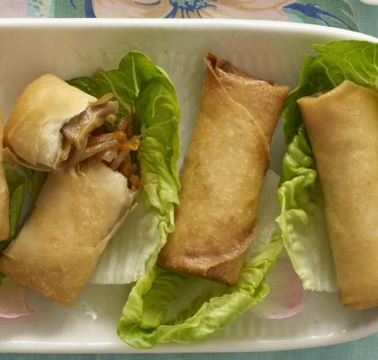 Chicken and Pork Spring Rolls Recipe
