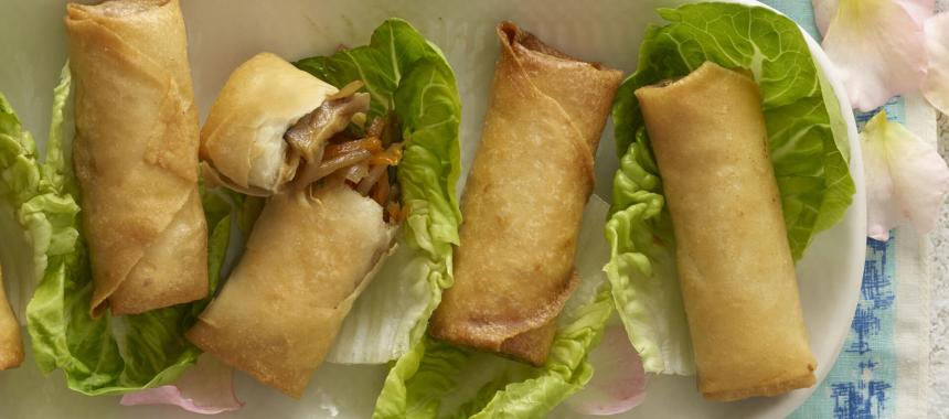 Chicken and Pork Spring Rolls Recipe