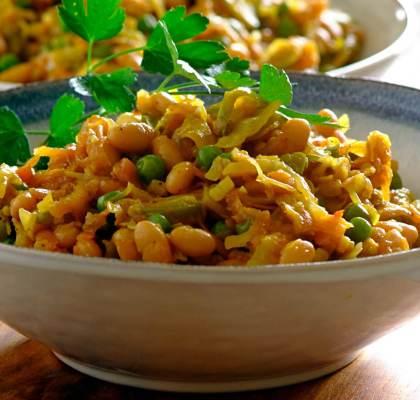 Patta Gobhi Matar Masala Recipe