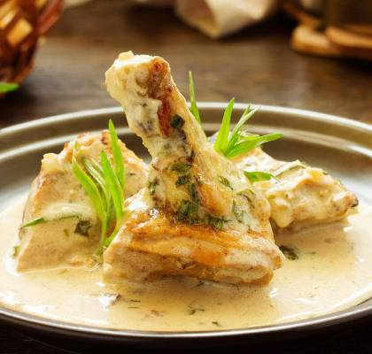 Tarragon Chicken Pancakes Recipe