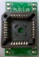 PLCC32 to DIP32IC Test Socket Adattatore Block, conversion seat clamshell
