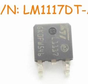 4 Pezzi LM1117DT-ADJ IC Circuiti Integrati