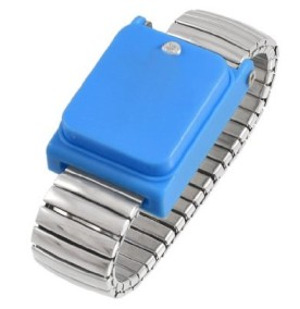 Elastic Silver Tone Alloy Anti Static Grounding Wrist Strap Cinghia