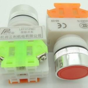 Red LAY37-11 bn (Y090-11 bn)flat bottone Pulsante bottone 1NO + 1NC CONTACT
