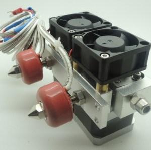 0.4mm Dual-Head Ugello Estrusore 3D Printer Print Dual-Head per Stampante 3D