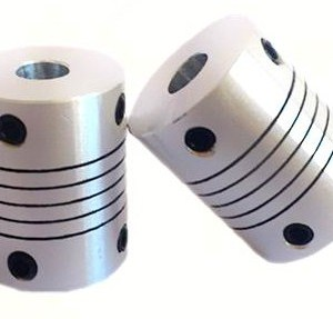 2 Pezzi 6.35x6.35 Size Motore Alluminio flexible coupling Coupler