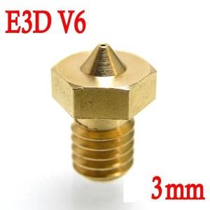 Ugello Estrusore in Ottone 0.2mm E3DV6 per Filamenti da 3.00mm 3D per Stampante 3D