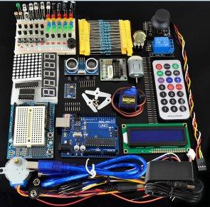 H018 UNO R3 Ultimate Starter Kit01 LED LCD Breadboard Shield Sensore per Arduino