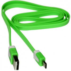 Micro USB Flat Cavo Green