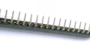 2 Pezzi 1*24P 2.54mm Bent Pin Header Femmina Connettore Plug