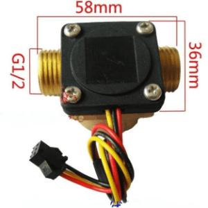 G1/2 DN15 DC4.5 5V-24V Ottone Acqua Sensore