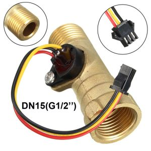 G1/2 Sensore Flusso d'acqua Ottone Flussometro Magnetico Effetto Hall