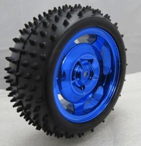 85MM*38MM Anti Slip Ruota Blue