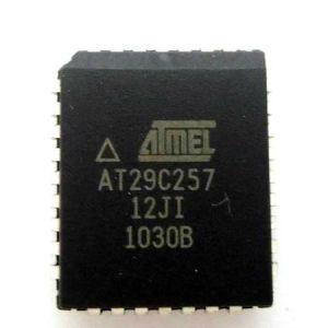 AT29C257-12JI ATMEL NOR Memoria Flash Parallel 5V 256Kbit 32K x 8bit 120ns 32-Pin PLCC IC Circuiti Integrati