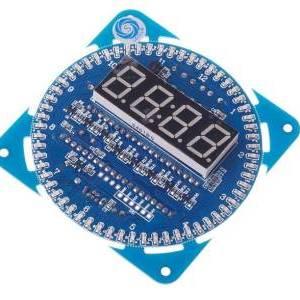 Fai da te DS1302 Kit orologio elettronico a rotazione LED 51 SCM Learning Board