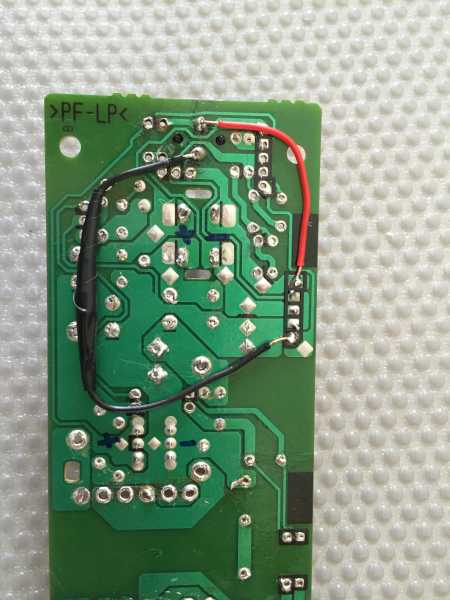 Underside of the modified PSX PCB