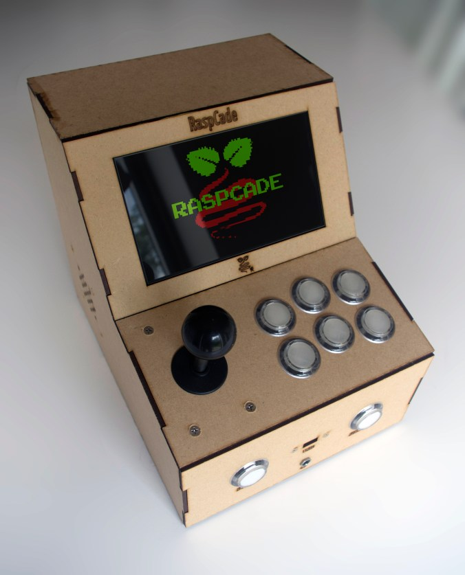 Open source RaspCade - a Raspberry Pi powered arcade machine that can be laser cut