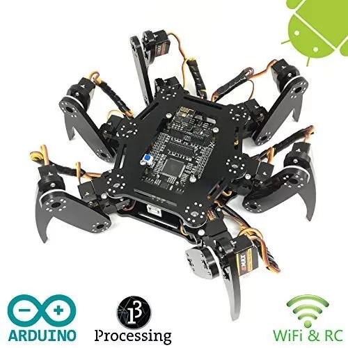 raspberryitalia freenove hexapod robot kit arduino based project raspberry pi spider 2