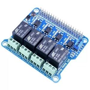 raspberryitalia kuman 4 channel raspberry pi expansion board power relay board module for