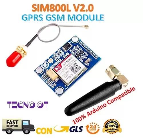 raspberryitalia sim800l v20 5v wireless gsm gprs module quad band with antenna cable cap